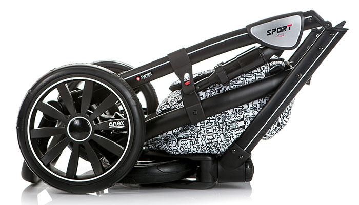 anex sport pram stroller 3 in 1 bassinet carry cot light. Black Bedroom Furniture Sets. Home Design Ideas
