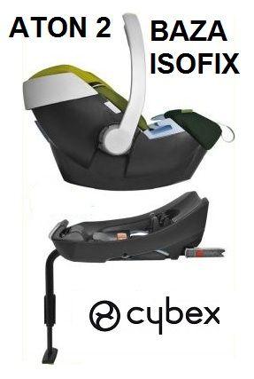 2w1 fotelik aton 2 baza isofix cybex 3 lata gw. Black Bedroom Furniture Sets. Home Design Ideas