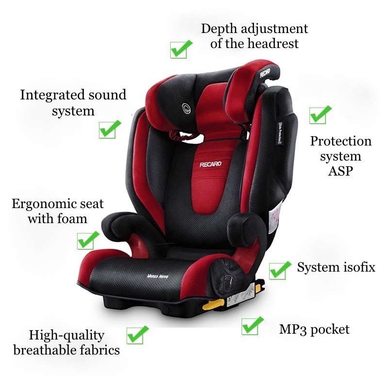 recaro car seat with built in speakers latest news car. Black Bedroom Furniture Sets. Home Design Ideas